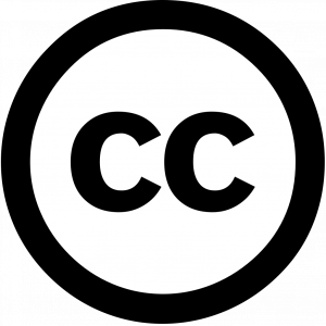 Logo for Creative Commons: a circle with CC inside it