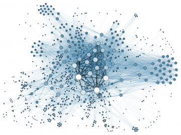 Martin Grandjean, Social Network Analysis Visualization, CC BY-SA 3.0